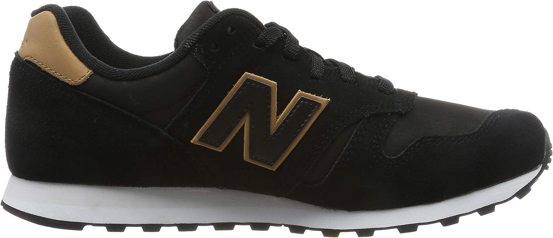 New Balance Herren 373 Sneaker Schwarz (Black Black)