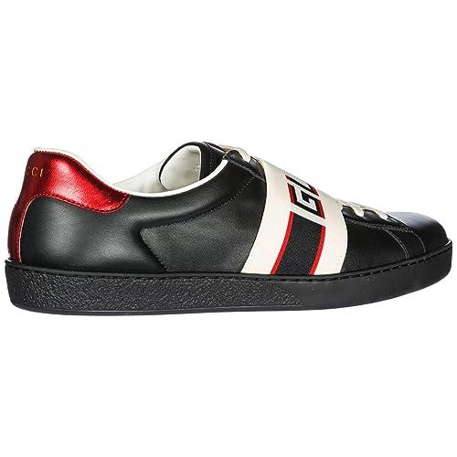 Gucci Scarpe Sneakers Uomo in Pelle Nuove Nero EU 45 523469 0FIV0 1076   Amazon.it  Scarpe e borse 3430af2990ba