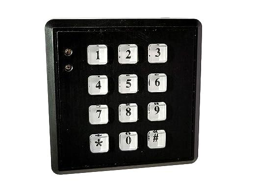 Dummy Alarm Keypad Simuliert Ein Alarmanlagen Gesichertes Gebäude Mit Tageslichtsensor Und Led Einfache Montage Gewerbe Industrie Wissenschaft