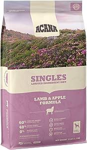 ACANA Lamb and Apple Singles Formula Dry Dog Food 25 Pound Bag