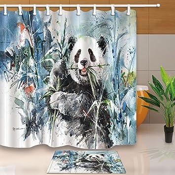 Nyngei Chinesischer Panda Mit Bambus Dekoration Mit Kombination