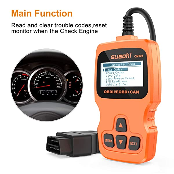 SUAOKI OM123 is one of the best Universal OBD2 Scanner that read and clear trouble codes