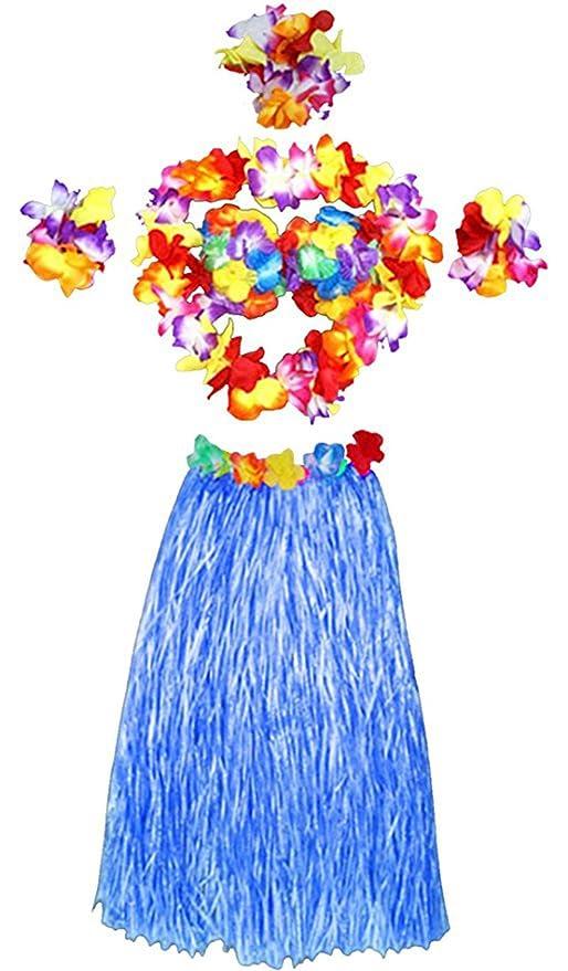 Vi.yo 6 piezas de falda de hierba hawaiana establece conjuntos ...