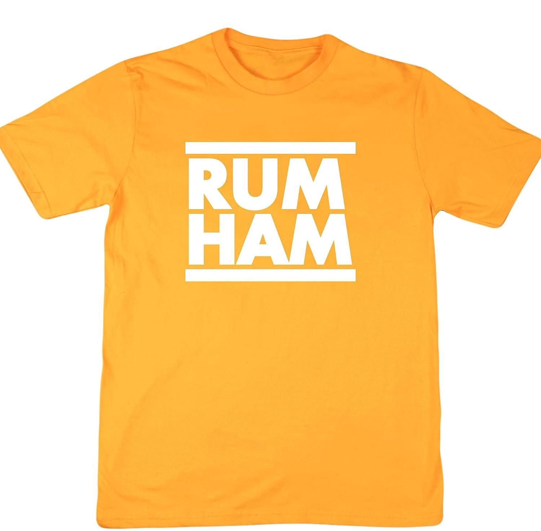 37338724 Hippowarehouse Rum Ham Unisex Short Sleeve t-Shirt (Specific Size Guide in  Description): Amazon.co.uk: Clothing