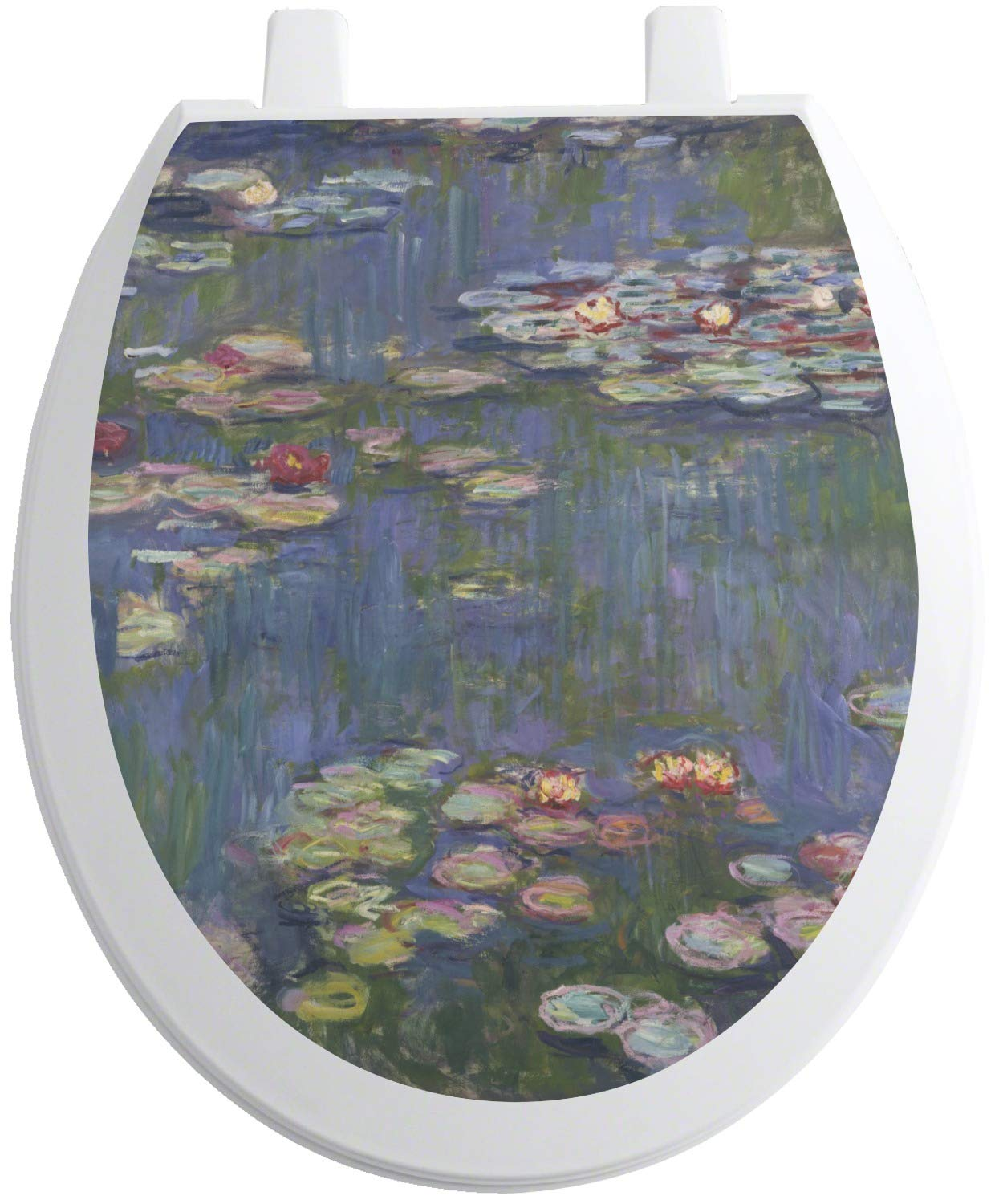 RNK Shops Water Lilies by Claude Monet Toilet Seat Decal - Round by RNK Shops