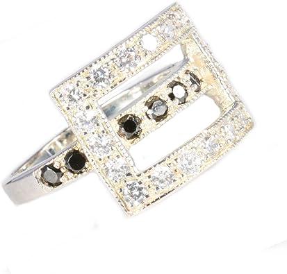 Pack de 3 (tres) plata anillos con hebilla frontal: Ceirys ...