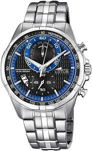 Relógio masculino LOTUS 10132/2 em aço com cronógrafo e data
