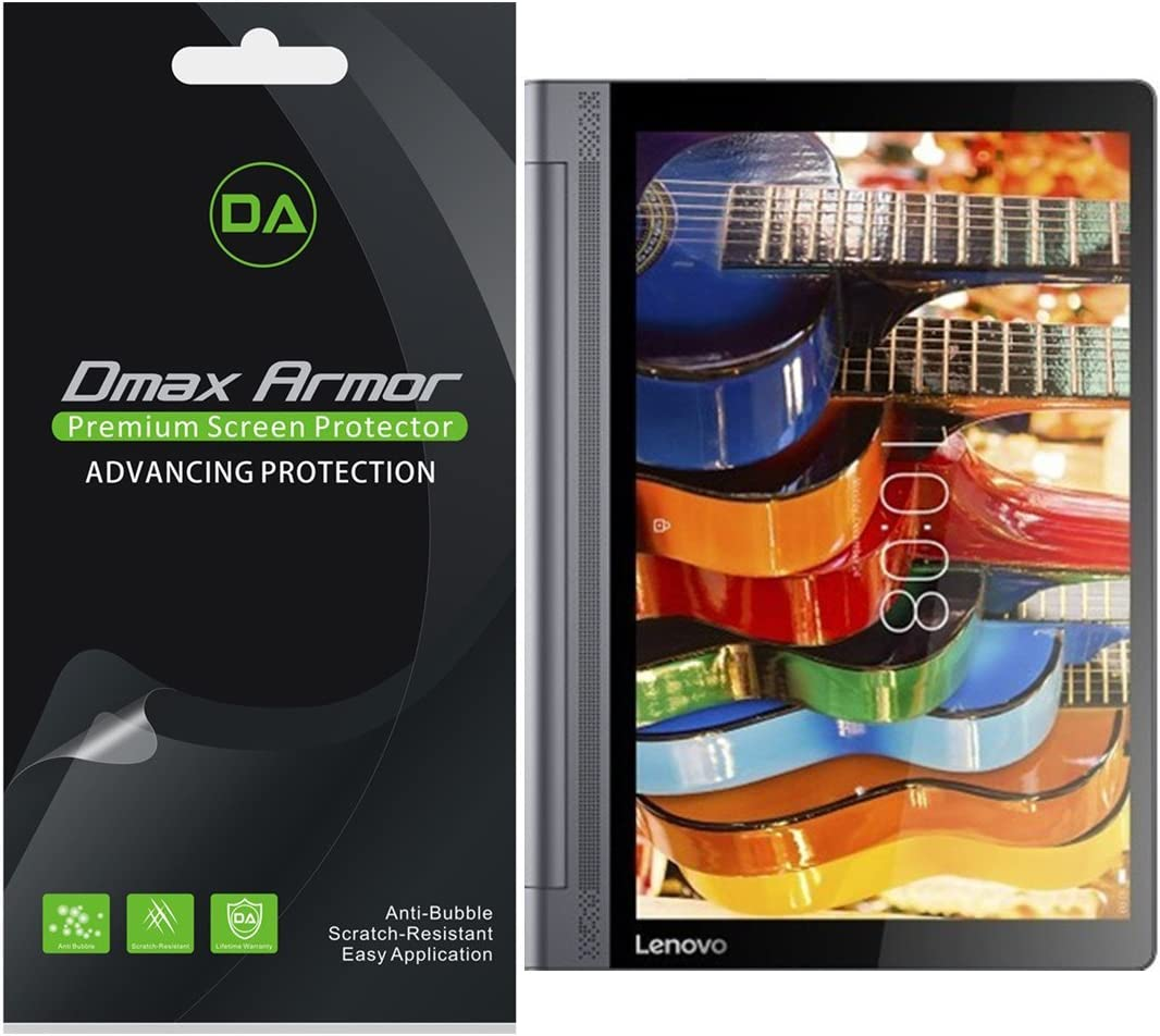 """Dmax Armor [3-Pack] for Lenovo Yoga Tab 3 Pro - 10.1"""" Tablet Screen Protector, Anti-Bubble High Definition Clear Shield"""