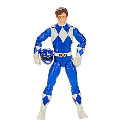 Power Rangers Lightning Collection Mighty Morphin Blue Ranger 6-Inch Premium Collectible Action Figure Toy with Accessories: Toys & Games