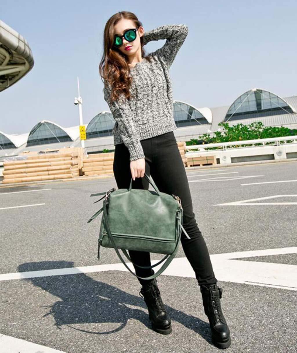 WMHXF Handtasche, PU-Handtaschen-Schleiradschleiflok große Tasche Dame Schultertasche,Grün B07P3JV6Q3 Schultertaschen Geeignet Geeignet Geeignet für Farbe 26685d