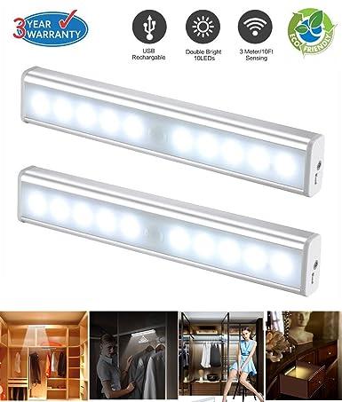 Lámpara LED con sensor de movimiento, luz LED de Noche PIR Sensor de luz y