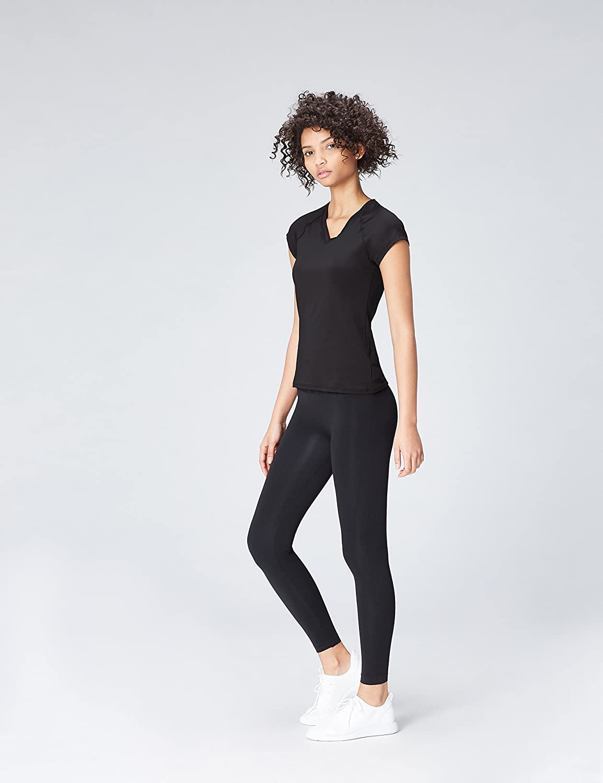 Activewear T-Shirt de Sport Col V Femme