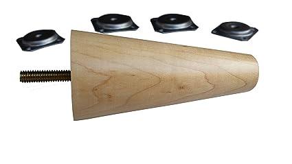 Excellent Design 59 Inc 5 Natural Maple Mid Century Modern Sofa Legs Lamtechconsult Wood Chair Design Ideas Lamtechconsultcom