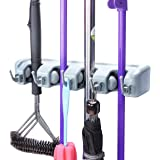 PETRICE Magic Holder Broom & Mop Organizer Heavy Quality Mop & Broom Holder