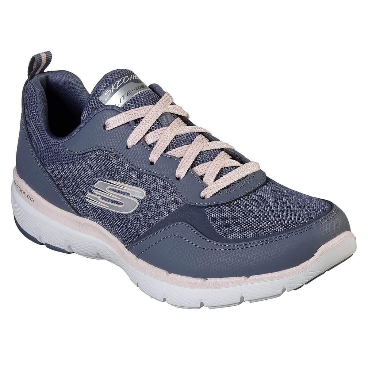 gris (Navy Leather Mesh Aqua Trim Sltp) Skechers Flex Appeal 3.0-go Forward, paniers Femme