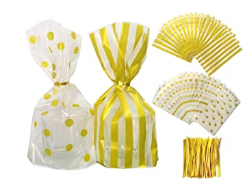 Amazon.com: Bolsas de plástico transparente para galletas de ...