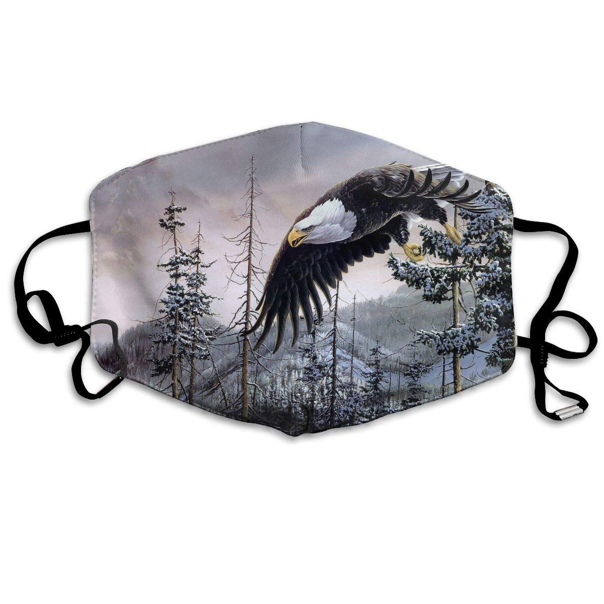 Anti Dust Face Mouth Cover Mask - Breath Healthy Respirator Bald Eagle Print Earloop Mask