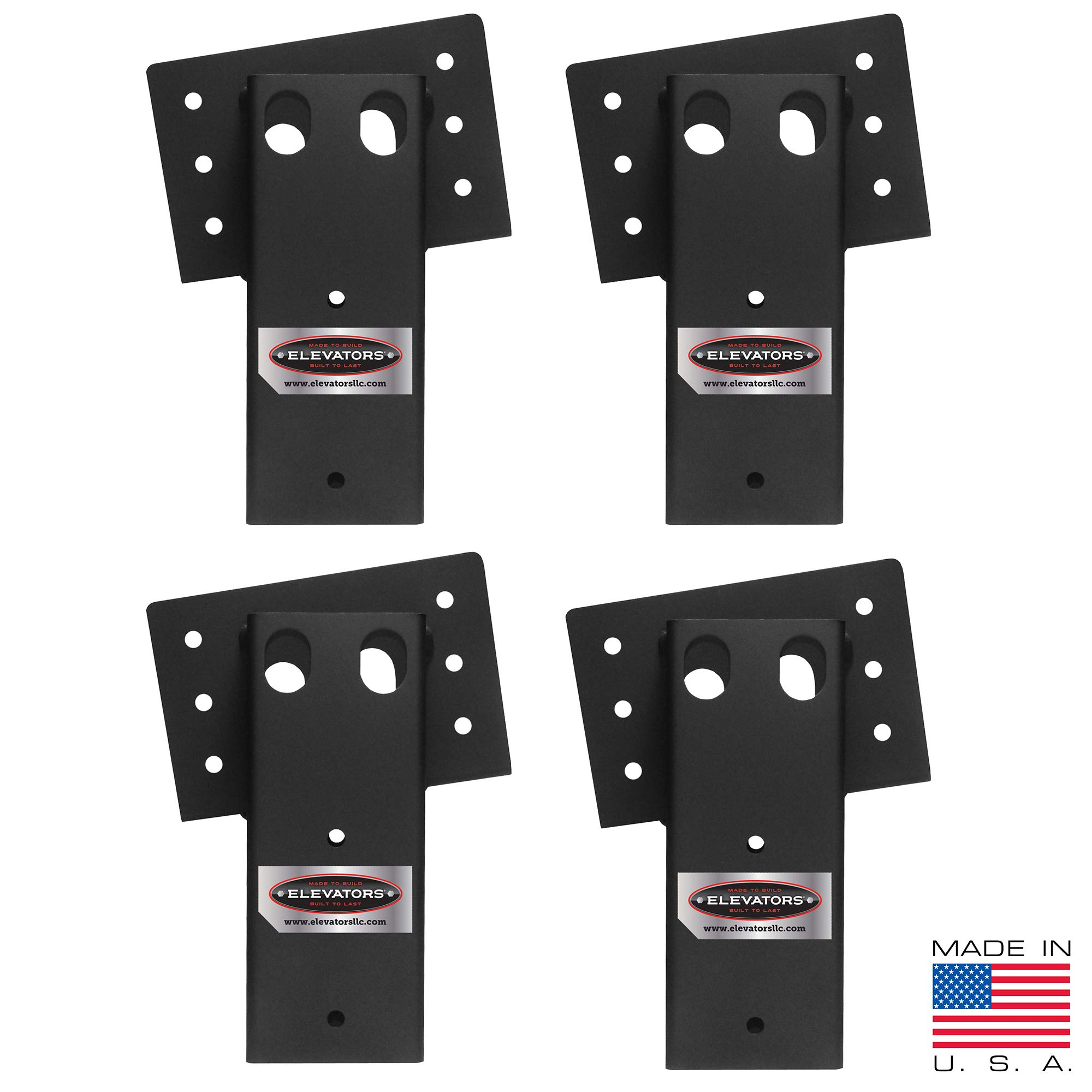 Elevators 4x4 Brackets for Deer Blinds, Playhouses, Swing Sets, Tree Houses. Made in The USA with Premium Construction Grade Steel. (1 Set of 4) by Elevators