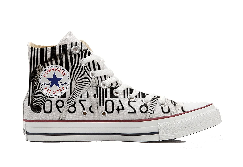 Make Your Shoes Converse Shoes Women s Hand Printed Italian Style (Shoe  Custom) Zebra Barcode Size 42 EU 10 1acbb9eff3