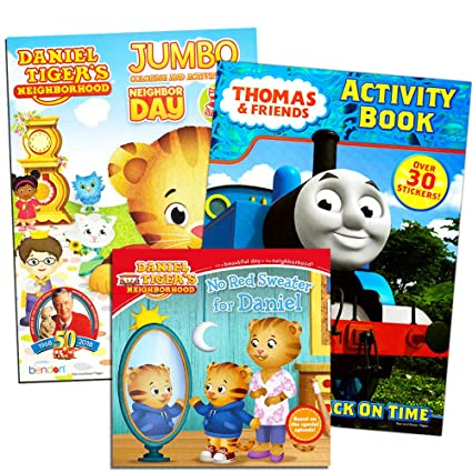 Amazon Com Daniel Tiger Coloring Book Super Set With Stickers 2