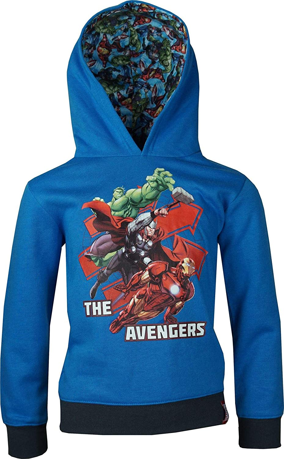 Sweat Garçon officiel Spiderman ou Avengers à capuche du 2 ans au 13 ans