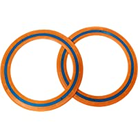 Mob 9 Flying Ring 2 Pack - Outdoor Toy - Orange Flying Disc/Ring/Frisbee Games for Beach, Garden, Park