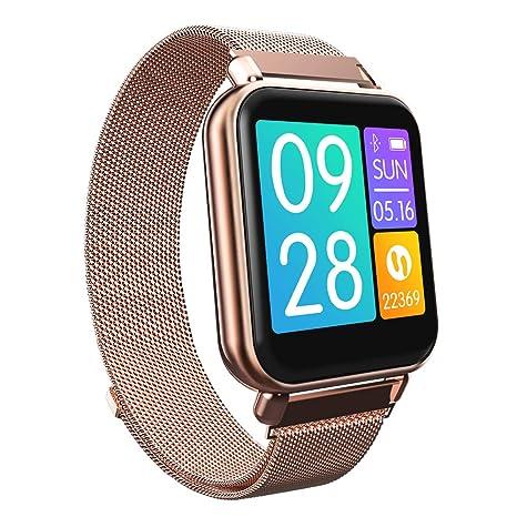 RanGuo Reloj Inteligente para Hombres Mujeres y niños, Deportes al Aire Libre Impermeable IP67 Smart Watch para Sistema Android y iOS (Correa de ...