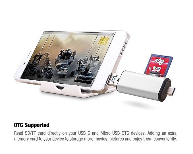 Jolliwin Lector de tarjetas SD / Micro SD con Adaptador 3-en-1 USB ...