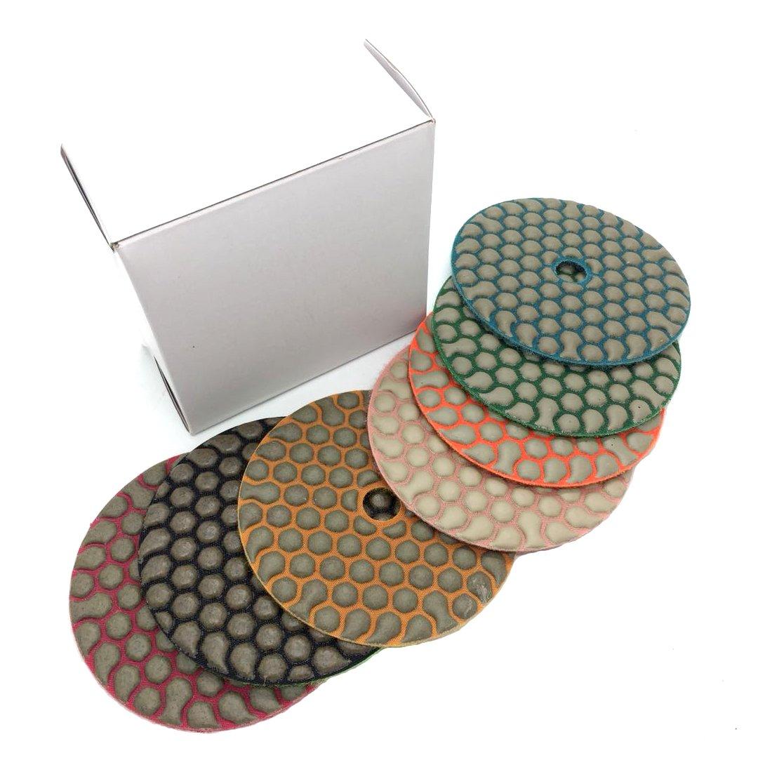 MURAT Dry Diamond Polishing Pads 4 Inch Premium Matte Grinding Pads for Concrete Marble Granite 7 PCS Grit 50-3000# (4inch,7pcs) by MURAT (Image #5)