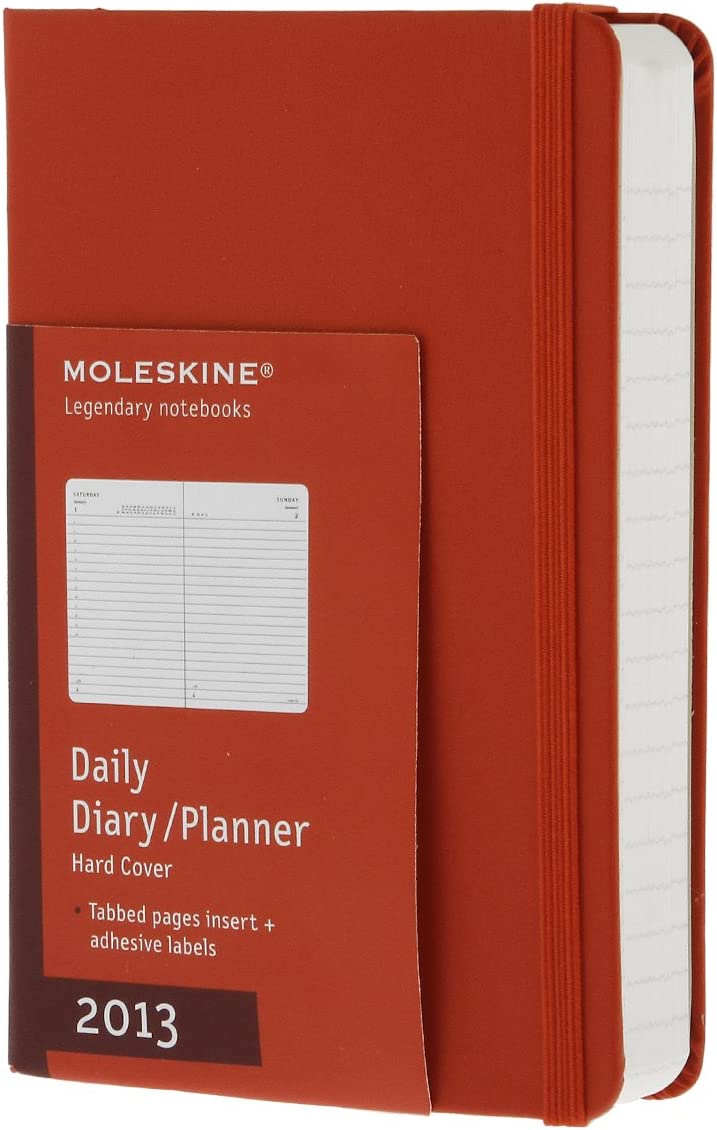 Daily Planner. Hard Red Cover