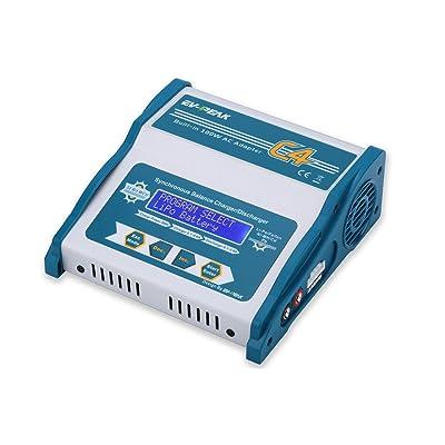 EV-PEAK 100W 8A AC/DC Input RC Balance Charger for LiPO Life LiHV NiHM NiCd PB Batteries: Toys & Games
