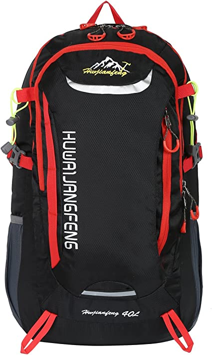 HWJIANFENG 30L Sac /à Dos de Randonn/ée Nylon pour Femme Homme pour Sport en Plein air Voyage Bivouac Alpinisme Escalade Trekking Camping Imperm/éable Bleu Fonc/é
