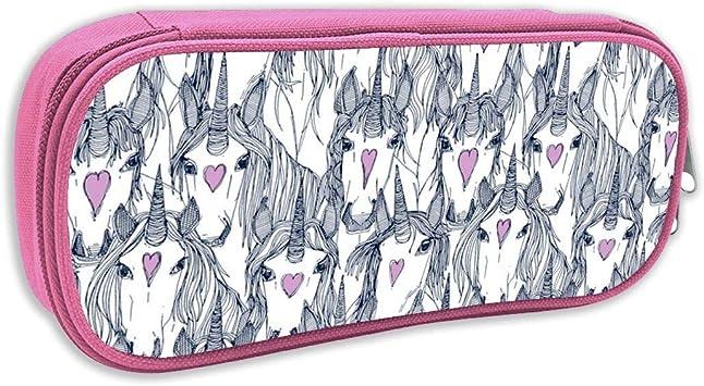 Estuche de lápices Infantil,Unicorn Love Navy Orchid_2504, Rosa: Amazon.es: Juguetes y juegos
