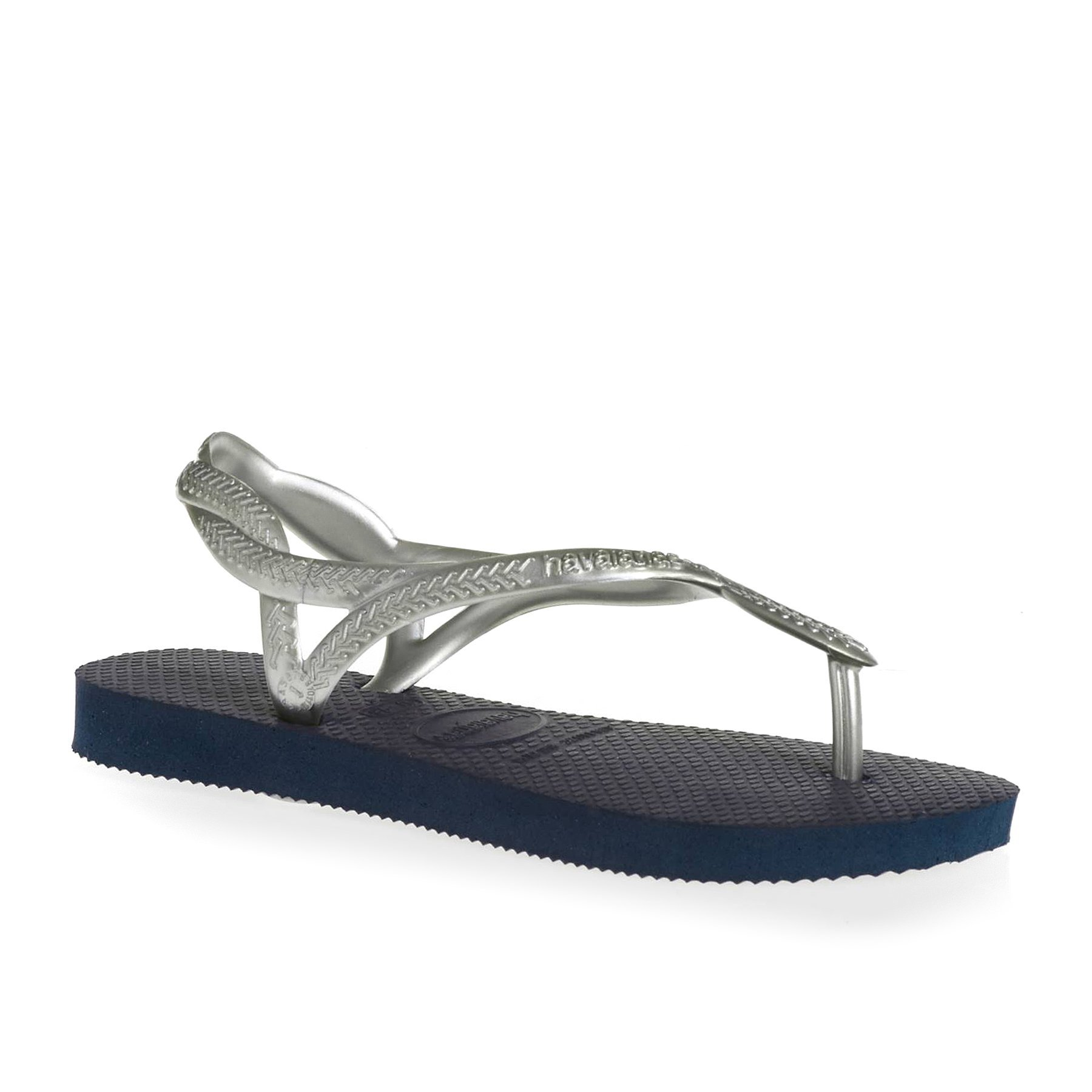 Havaianas HAV Luna Sandals 13 M US Little Kid Navy/Silver