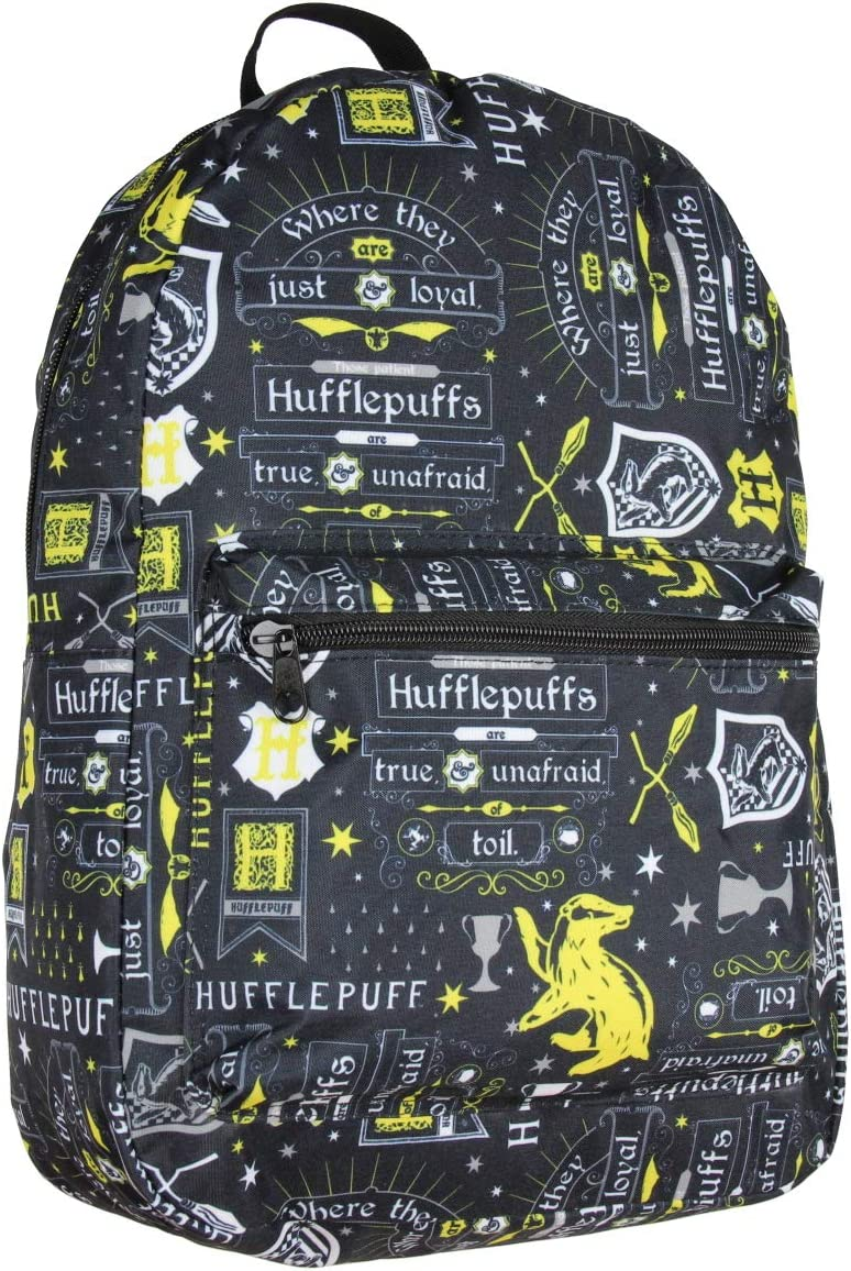 Harry Potter Hufflepuff House Motto Sublimated Laptop Backpack Bag