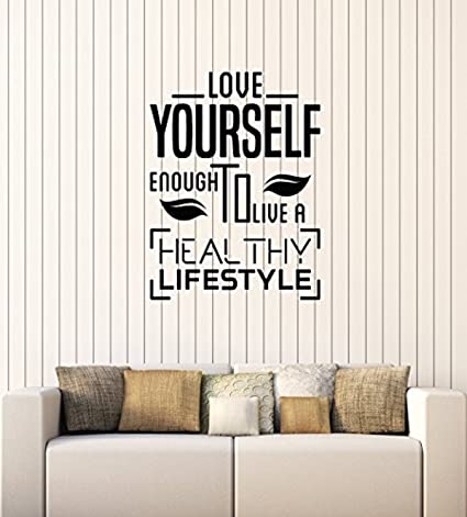 Art Of Decals WallStickers4ever Vinyl Wall Decal Healthy Lifestyle Quote  Diet Health Inspire Medical Office Stickers