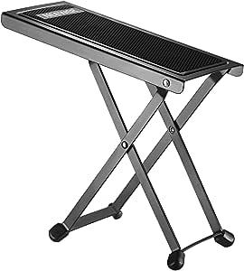 Neewer NW001 Reposapiés Pedal de Hierro Sólido Robusto Reposar con 4 Casquillos de Extremo de Altura Fija Posiciones y Pad para Guitarra Flamenco Acústica o Eléctrica(Negro)