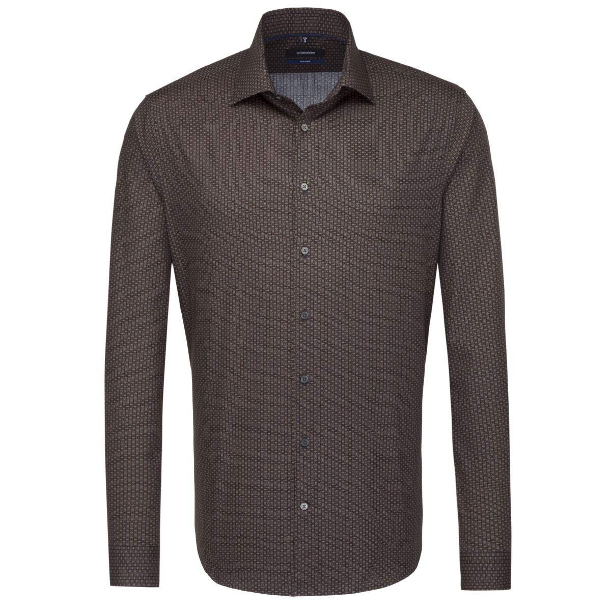 TALLA 46. Seidensticker Camisa Formal - Clásico - Manga Larga - para Hombre