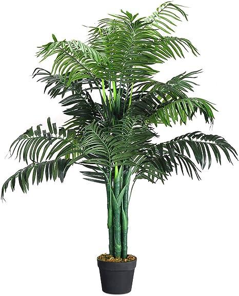 Phönixpalme mit Topf künstliche Palmen Kunstpalmen Kunstpflanzen 130cm Grün DE