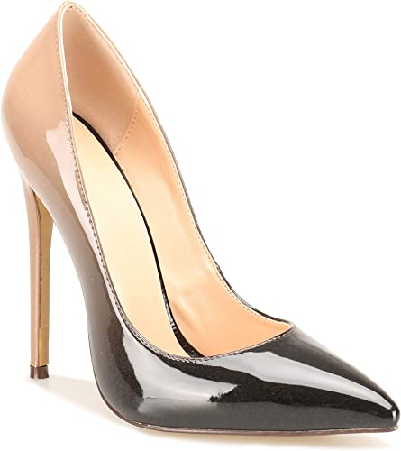 Amazon Com Ran Bella Women S Classic Pointed Toe High Heel Slip