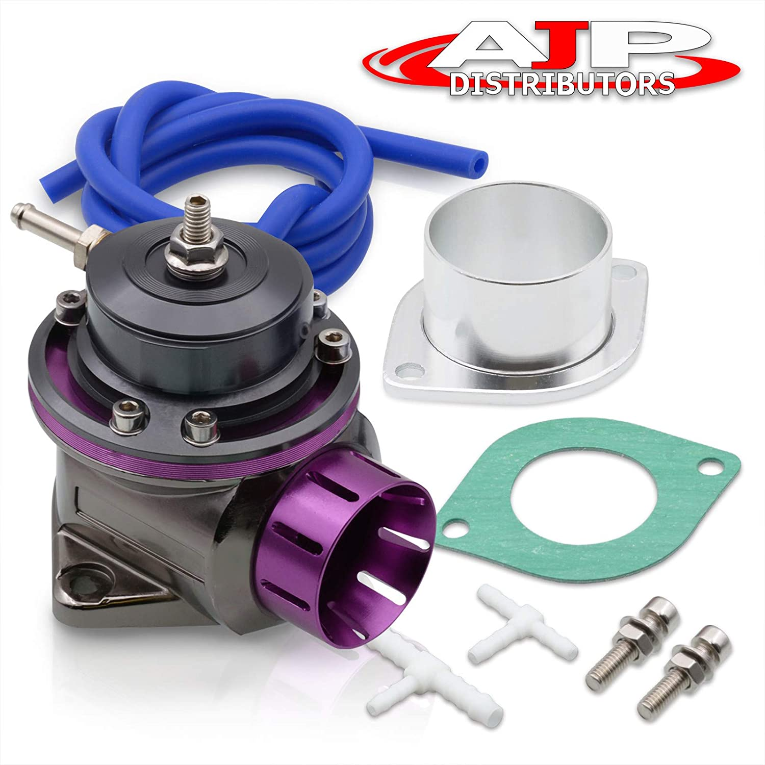 AJP Distributors Performance Upgrade Racing JDM Universal Purple Lip Aluminum Billet Turbo Turbocharger Recirculate Air Boost Adjustable PSI Blow Off Valve BOV Type-FV