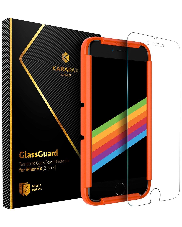 [Đồ điện tử] Màng bảo vệ kính cường lực cho Anker KARAPAX GlassGuard iPhone 8/7 [Tương thích 3D / độ cứng 9 H / phân tán công tác phòng chống] - mua ngay tại: https://omelii.com/a/B0751FSNKG