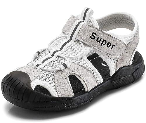 40aaa3e8f Gaatpot Unisex Niños Sandalias de Vestir con Punta Cerrada Niña Niño Zapatos  Sandalias Deportivas en Cuero Zapatillas Verano 21-33: Amazon.es: Zapatos y  ...