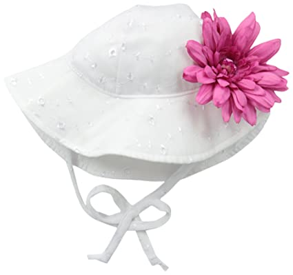 Flap Happy Baby Girls  Upf 50+ Floppy Hat with Flower  Amazon.in ... 542ea1f80ef4