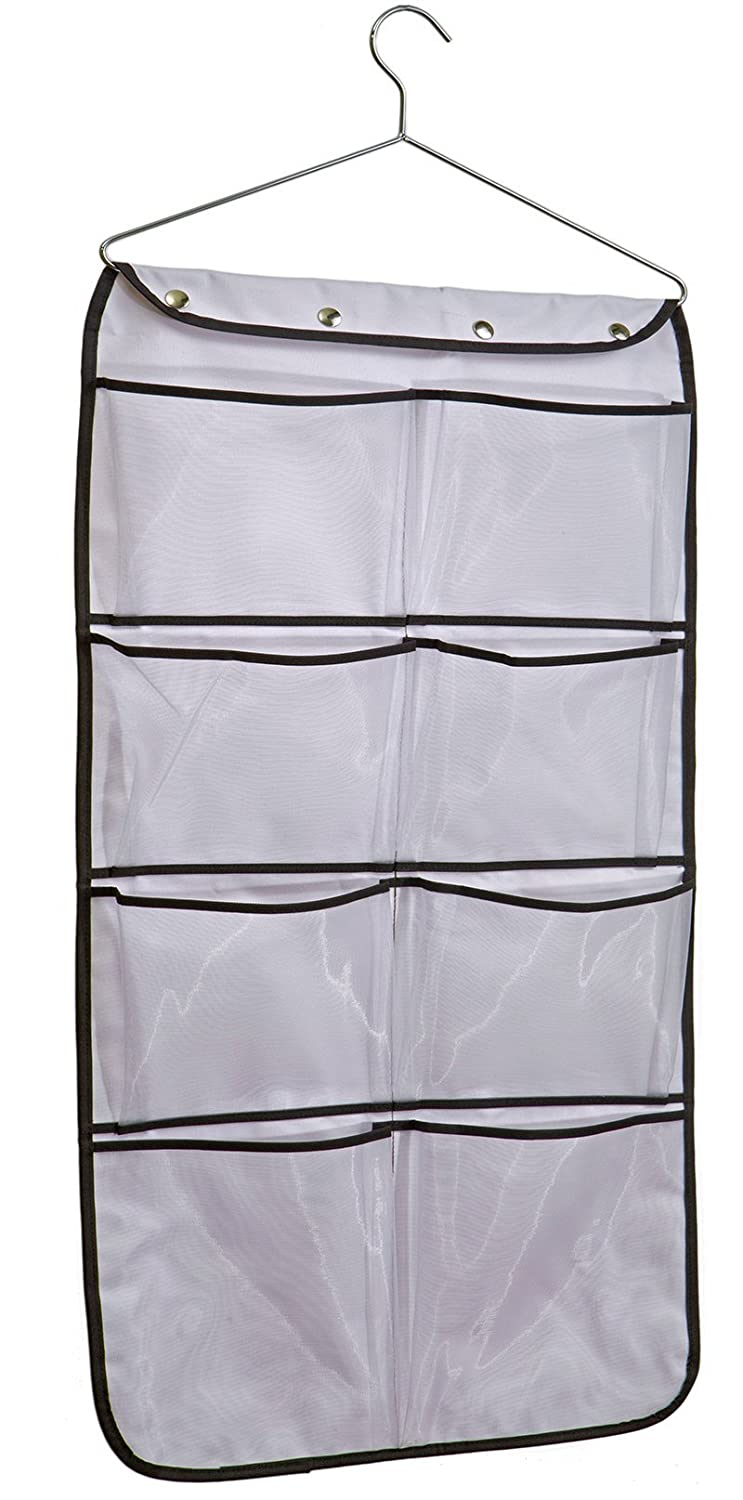 MISSLO Durable Hanging Closet Double Sided Bra Stocking Clothes Socks Organizer 15 Large Mesh Pockets, White SYNCHKG063907
