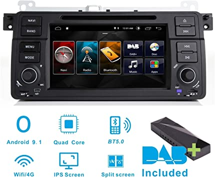 Radio estéreo para coche Android 8.1 DAB+ (incluido) para BMW E46 ...