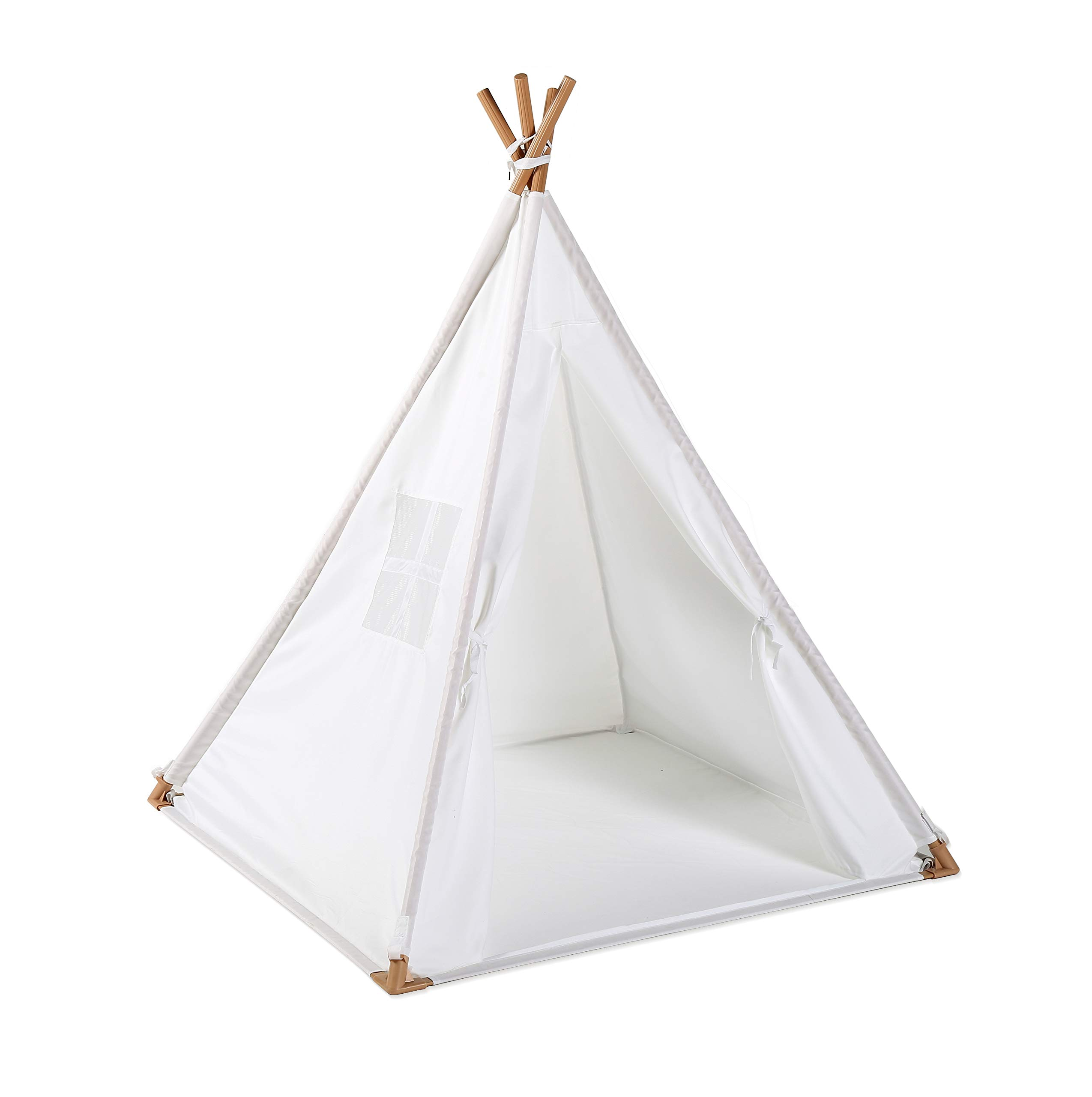 Utex Kid'S Teepee Tent, Indoor Outdoor Play House ,Floor Mate, Indian Teepee Playhouse Sleeping Dome Play Tent W/Zipper Carry Bag for Boys ,Girls