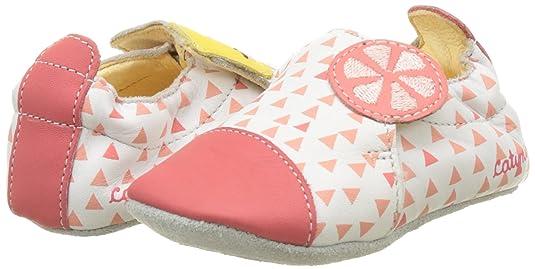 Catimini Pirolle, Chaussons Bébé Fille, Multicolore (VTE Blanc-Corail DPF/ Souple), 19 EU: Amazon.fr: Chaussures et Sacs