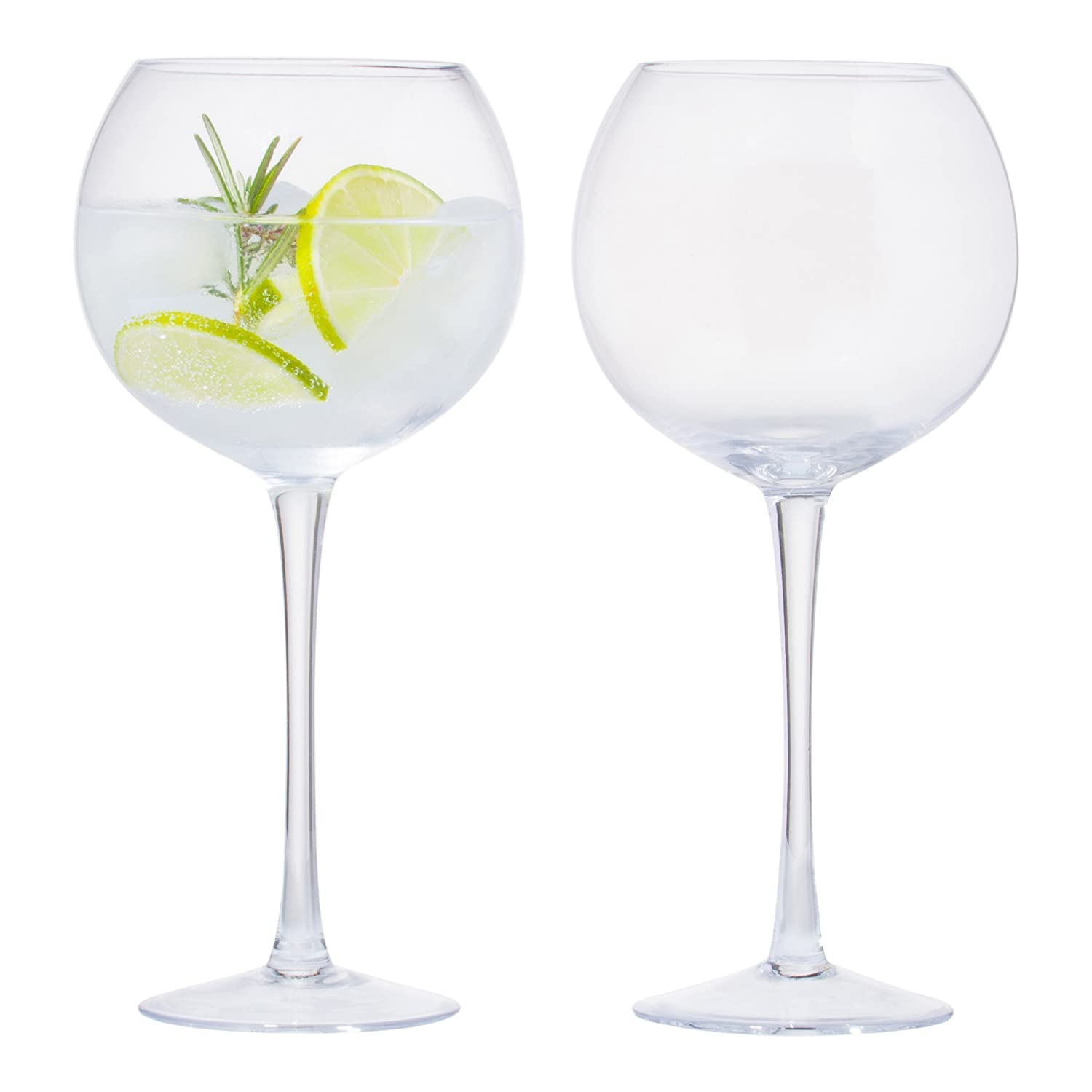 Gin Glasses, Gin Balloon Shaped Glasses, Gin Goblets, Gin and Tonic Cocktail Glasses, Lightweight Glasses (Set of 2) Gift Boxed, Perfect for Parties Or Home Use NJD Media Ventures