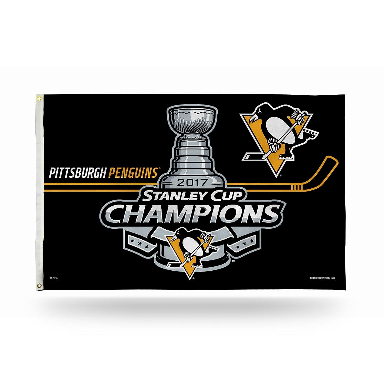 NHL Pittsburgh Penguins 2017 Stanley NHL Cup Champions B071PBG4HN Stanley Banner Flag, Black, 0.9m x 1.5m B071PBG4HN, 紅茶専門店 Js Leaf:901927f0 --- gamenavi.club